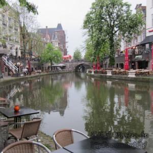 ユトレヒトを流れる運河